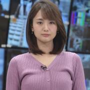 井上清華アナ ニット乳