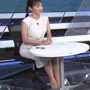 小澤陽子アナ 白いワンピース